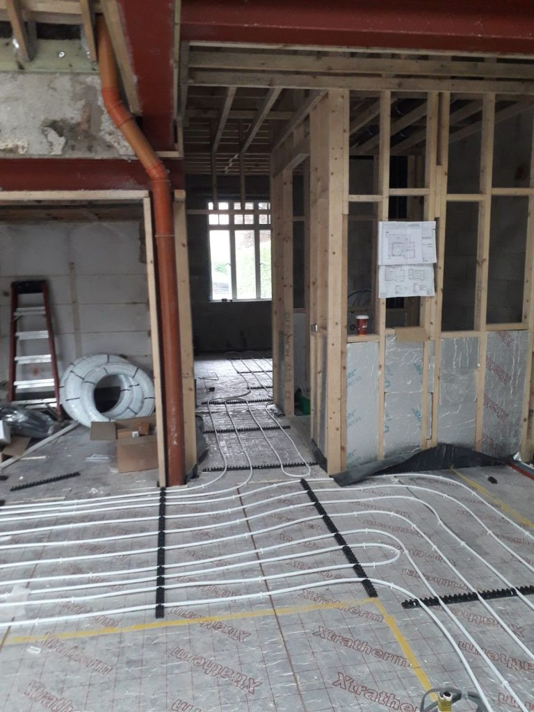 Underfloor Heating Project different angle